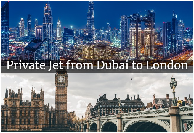 private jet from dubai to london